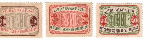 Stamps, Stickers and Stigmata. A Social Practice of Antisemitism Presented in a Slide-show