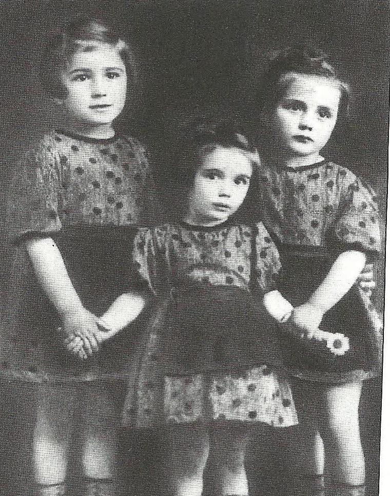 Fig. 2: Chana, Gitel, and Rivka Horowitz, from the commune of Nagyfalu, who were taken during the Holocaust and commemorated through the project