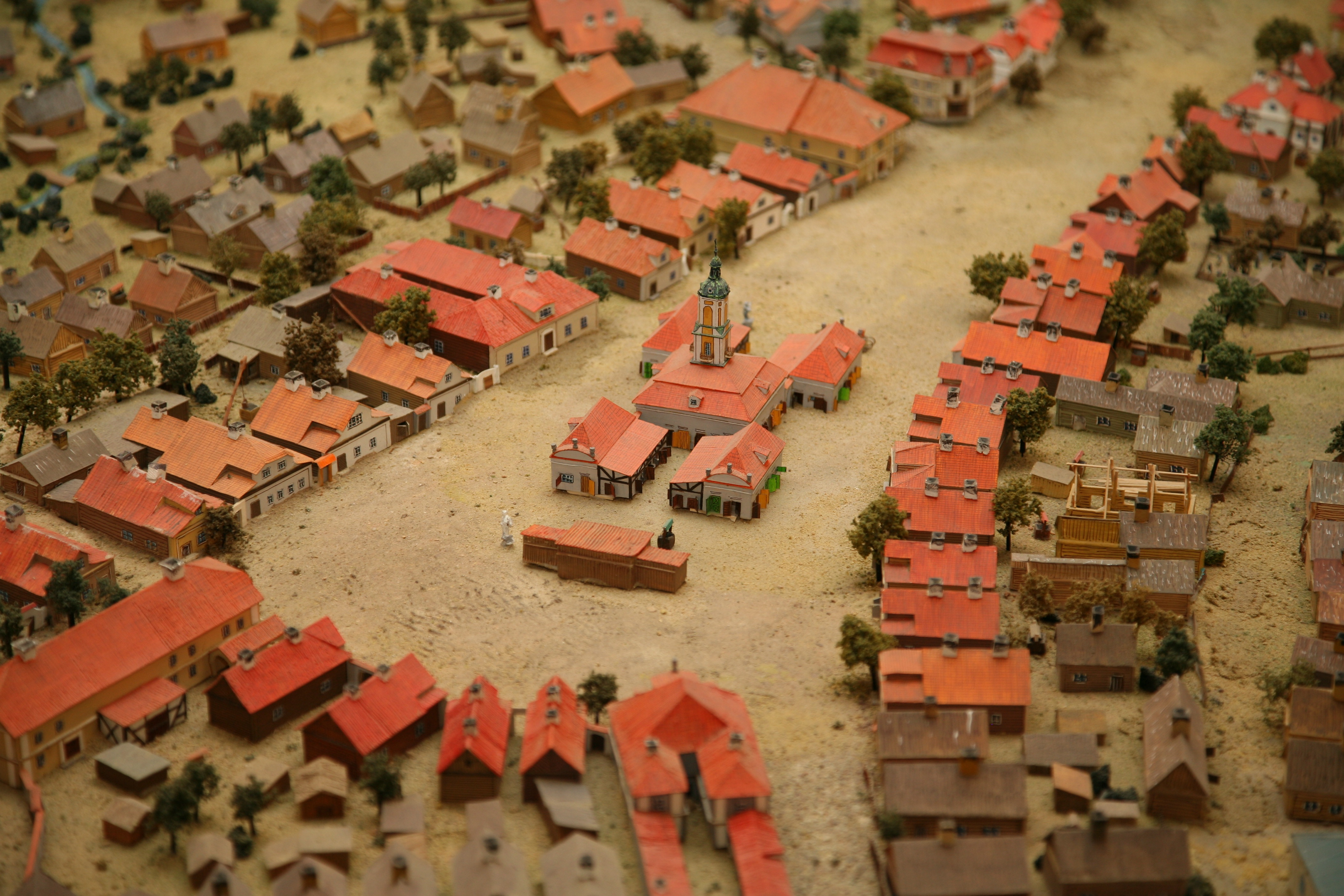 Fig. 2: Model of the city of Białystok, detail. Photograph by Anna Sierko (Museum of History in Białystok)