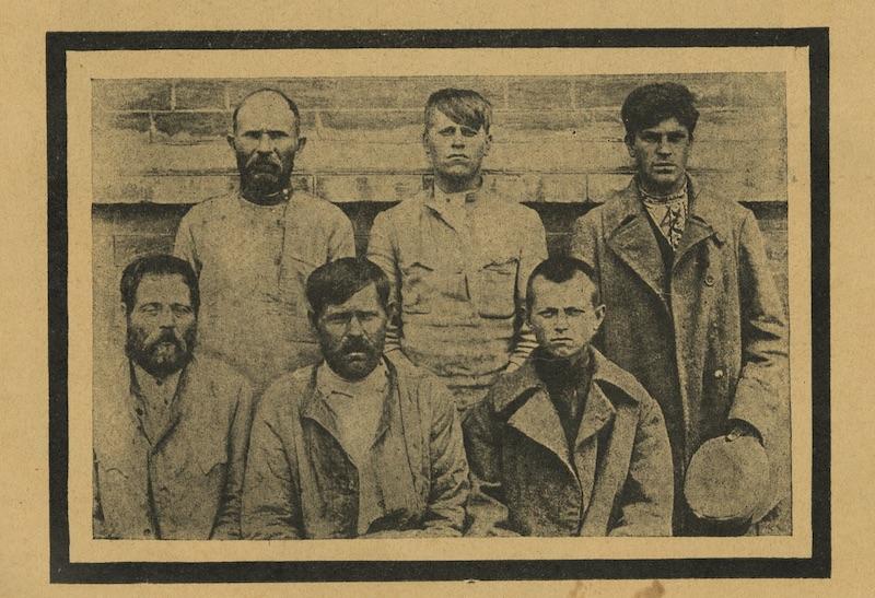 """Fig. 3: """"Bandits"""", in Z. S. Ostrovskii, Evreiskie pogromy, 1918-1921 (Moscow: Shkola i kniga 1926), 104. Courtesy of the Blavatnik Archive, New York."""